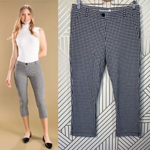 Betabrand Dress Yoga Pant Crop Classic Gingham